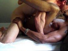 Sexy interracial couple fucking bareback