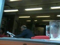 Webcam upskirt in a public library