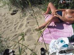 Dildo on public beach