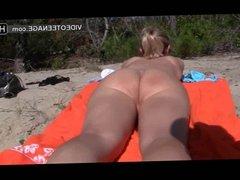 blonde teen nudist at beach