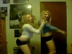 two teen dancing