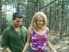 Naughty Nature Lovers Dori And Nick Enjoy A Backwoods Romp