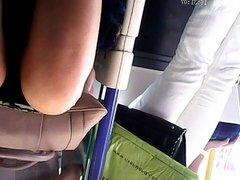 Upskirt on the Tube