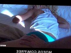 Mofos - Bubble-butt blonde Destiny is woken up for rough-sex