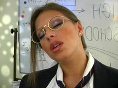 Horny teacher rubs pussy in classroom pawg
