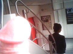 Public Train Cumshot 4