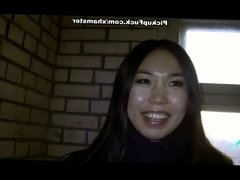 Night pick up fuck with asian chick