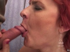 Amateur mommy goes wild with young cock