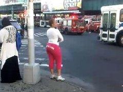 Milf Booty Street corner