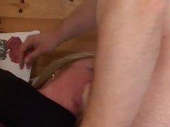Blond Bbw in threesome