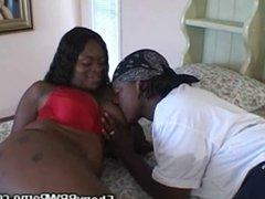 Ebony BBW Babe Sucks And Fucks Cock