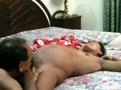 Paki uncle licked wifes pussy and fucked her
