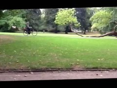 Masturbation outside in the park