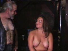 Horny Princess fucks a dildo in dungeon