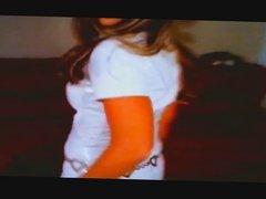 girl in white pvc
