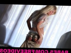 Babes - Beautiful blonde Tasha Reign strips off lingerie