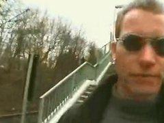 Geman Man Seduce A Blonde Milf In Train Station