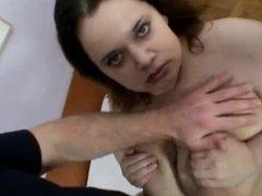 Bbw girl with big tits  fucks and sucks her boyfriend