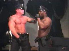 Interracial fuck of versatile cigar cops.