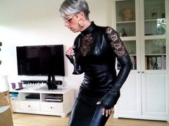 Sissy sexy leather dress 2