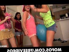 Mofos - Group of four teen sluts start an intense orgy