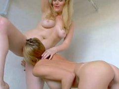 amateur russian lesbians eat pussy in bathroom