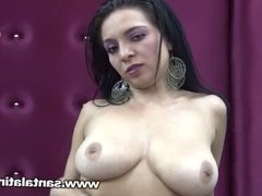 Big tits colombian latin girl interview