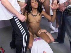 Black girl Amber Steel gets 8 loads of white jizz