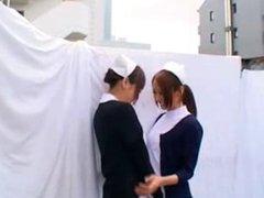 Naughty Asian Nurse Toying Girl Till Squirting