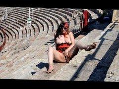 BAREFOOT CECILIA: PUBLIC MASTURBATION in the ARENA