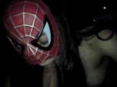 girl in spiderman mask pov bj