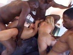 Black men satisfying urges with two Hungarian women