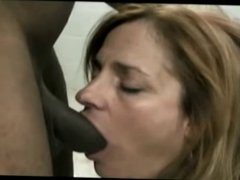 Slut wife fucks BBC in the bathroom