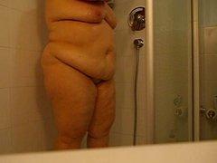 Yo en la ducha