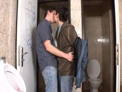 Public Bathroom Bareback