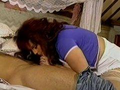 British MILF Kirstyn Halborg in a MMF threesome again