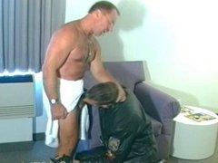 Cop blows his partner's schlong