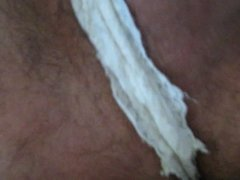 Masturbating wearing wife panties (bragas de mi mujer)