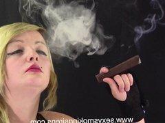 Harper Black Gown and Gloves Cigar