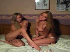 russian girls carress each other