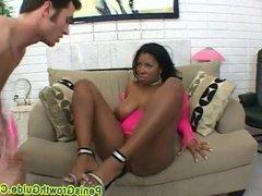 Big Tits Ebony Fucked On Her Boobs