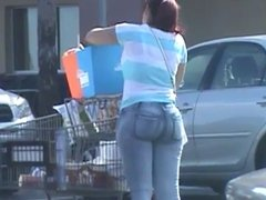 Candid Phat Latina Ass in jeans part 1