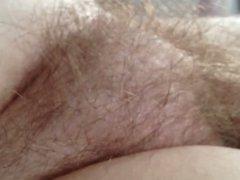nipple & hairy bush.