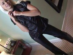 Eroberlin Lola Striptease Teenstar leather fetish blond hair