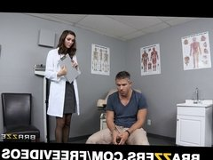 Brazzers - Sexy brunette doctor gives her patient a check up