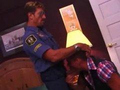 Cowboy rides a Cop