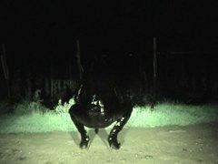 Cumshot in Latex in the dark