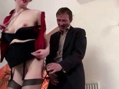 Mature in stockings loves riding cock
