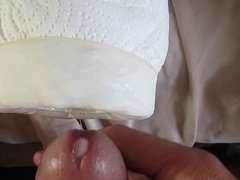 ejaculating in my DIY homemade pussy