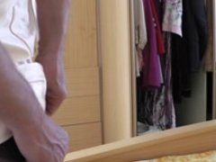 vintage lingerie masurbating on bed